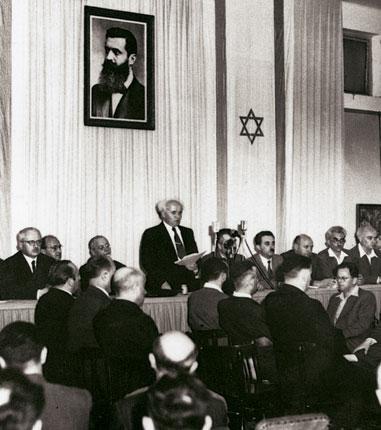 David Ben-Goerion roept de Staat Israël uit in 1948