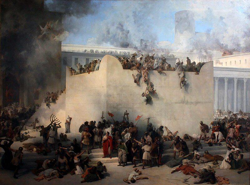 Verwoesting 2e Tempel